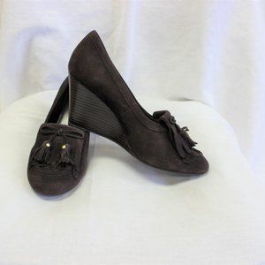 Coach wedge loafers